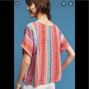 Anthro | Maeve Milla Aztec Multi color print Top